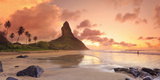 Brazil, Fernando De Noronha, Conceicao Beach with Pico De Morro Mountain in the Background Photographic Print by Michele Falzone