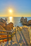 Portugal, Algarve, Lagos, Sunrise over Camilo Beach (Praia Do Camilo) Photographic Print by Alan Copson