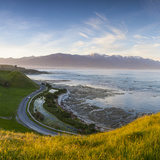 Elevated View over Picturesque Kaikoura Peninsula Illuminated Photographic Print by Doug Pearson