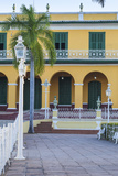Cuba, Trinidad, Plaza Mayor, Brunet Palace Now the Museum Romantico Photographic Print by Jane Sweeney