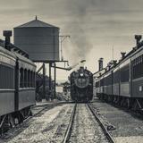 USA, Pennsylvania, Pennsylvania Dutch Country, Strasburg, Strasburg Railroad, Steam Train Photographic Print by Walter Bibikow