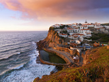 Portugal, Sintra, Azehas Do Mar, Overview of Town at Dusk Photographic Print by Shaun Egan