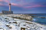 Italy, Sicily, the Santa Croce Lighthouse in Augusta, Taken at Sunset Photographic Print by Alfonso Morabito