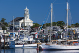USA, Massachusetts, Cape Cod, Provincetown, Macmilan Pier, Town View with Public Library Building Photographic Print by Walter Bibikow