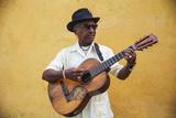 Cuba, Santiago De Cuba Province, Santiago De Cuba, Historical Center, Musician Photographic Print by Jane Sweeney