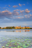 Italy, Lombardy, Mantova District, Mantua, View Towards the Town and Lago Inferiore, Mincio River. Photographic Print by Francesco Iacobelli