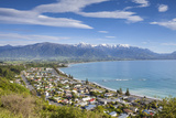 Elevated View over the Picturesque Coastal Town of Kaikoura, Kaikoura, South Island, New Zealand Photographic Print by Doug Pearson