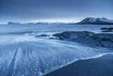 Iceland, East Iceland, Austurland , Blue Hour at Reydhara Reef Photographic Print by Salvo Orlando