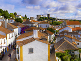 Portugal, Estramadura,Obidos, Overview of 12th Century Town Photographic Print by Shaun Egan
