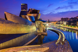 Guggenheim Museum by Night, Bilbao, Basque Country, Spain Photographic Print by Stefano Politi Markovina