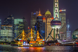 China, Shanghai, Pudong District, Financial District Including Oriental Pearl Tower Photographic Print by Alan Copson