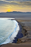 Peru, Paracas National Reserve, Lagunillas Bay, Sunset, Pacific Ocean, Ica Region Photographic Print by John Coletti