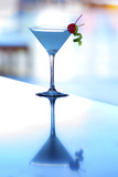 Peru, Paracas, Hilton Hotel Paracas, Blue Martini, Ica Region Photographic Print by John Coletti