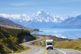 Mount Cook (Aoraki), Lake Pukaki, Mackenzie Country, Canterbury, South Island, New Zealand Photographic Print by Doug Pearson