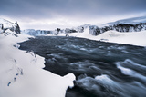 Iceland , Northeast Iceland, the Godafoss Waterfall in His Winter Beauty Photographic Print by Vincenzo Mazza