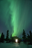 Aurora Borealis at Chena Hot Springs, Fairbanks, Alaska, Usa Photographic Print by Christian Heeb