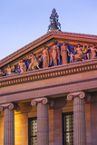 USA, Pennsylvania, Philadelphia, Philadelphia Museum of Art, Exterior Detail, Dusk Photographic Print by Walter Bibikow