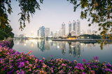 Thailand, Bangkok. View of the City from Benjakiti Park at Dusk Photographic Print by Matteo Colombo