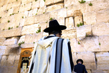 Worshippers at the Western Wall, Jerusalem, Israel, Middle East, Photographic Print by Neil Farrin