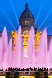 Font Magica or Magic Fountain with Palau Nacional in the Background, Barcelona, Catalonia, Spain Photographic Print by Stefano Politi Markovina