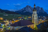 Night View over the Mountain Village of Castelrotto Kastelruth, Alto Adige or South Tyrol, Italy Photographic Print by Stefano Politi Markovina