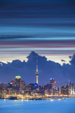 View of Auckland at Dusk, Auckland, North Island, New Zealand Photographic Print by Ian Trower