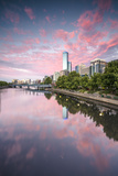 Melbourne, Victoria, Australia. Yarra River and City at Sunrise, with Rialto Towers on the Right Photographic Print by Matteo Colombo