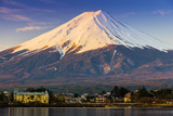 Mount Fuji at Sunrise as Seen from Lake Kawaguchi, Yamanashi Prefecture, Japan Photographic Print by Stefano Politi Markovina
