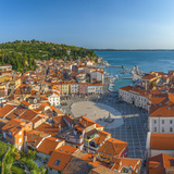 Slovenia, Primorska, Piran, Old Town, Tartinijev Trg (Tartini Square) Photographic Print by Alan Copson