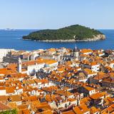 Elevated View over Picturesque Stari Grad (Old Town), Dubrovnik, Dalmatia, Croatia Photographic Print by Doug Pearson
