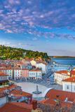 Slovenia, Primorska, Piran, Old Town, Tartinijev Trg (Tartini Square) Photographic Print by Alan Copson