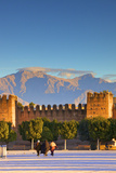 Old City Wall with Anti Atlas Mountain Range in the Background, Taroudant, Morocco, North Africa Photographic Print by Neil Farrin