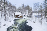 Myllykoski Rapids and Old Mill in Juuma, Oulankajoki National Park, Kuusamo, Finland Photographic Print by Peter Adams