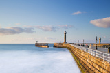 United Kingdom, England, North Yorkshire, Whitby. the West Pier on a Late Spring Evening. Photographic Print by Nick Ledger