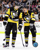 Evgeni Malkin & Sidney Crosby 2014-15 Action Photo
