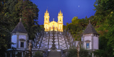Portugal, Minho Province, Braga, Bom Jesus Do Monte at Night Photographic Print by Shaun Egan