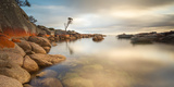 Tasmania, Australia. Binalong Bay, Bay of Fires at Sunrise Photographic Print by Matteo Colombo