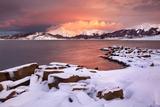 Italy, Abruzzo, Parco Nazionale Del Gran Sasso-Laga, Campotosto Lake. Photographic Print by Vincenzo Mazza