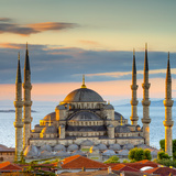 Alan Copson - Turkey, Istanbul, Sultanahmet, the Blue Mosque (Sultan Ahmed Mosque or Sultan Ahmet Camii) - Fotografik Baskı