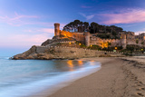 View at Dusk of Vila Vella, the Medieval Old Town of Tossa Del Mar, Costa Brava, Catalonia, Spain Photographic Print by Stefano Politi Markovina