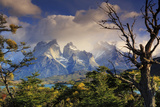 Chile, Patagonia, Torres Del Paine National Park, Cuernos Del Paine Peaks and Lake Pehoe Photographic Print by Michele Falzone