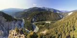 Michele Falzone - Switzerland, Graubunden, Conn, Rhine Gorge (Ruinaulta), View from Il Spir Platform Fotografická reprodukce