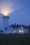 USA, Massachusetts, Cape Cod, Chatham, Chatham Lighthouse in the Fog Photographic Print by Walter Bibikow