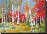 Autumn Impression Stretched Canvas Print