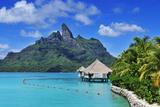 Saint Regis Bora Bora Resort, Bora Bora, French Polynesia, South Seas Pr Photographic Print by Norbert Eisele-Hein