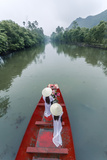 Vietnam, Perfume River. Young Vietnamese Girls on a Boat Going to the Perfume Pagoda (Mr) Photographic Print by Matteo Colombo