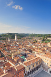 Italy, Veneto, Verona District, Verona. View from Lamberti Tower. Piazza Erbe. Photographic Print by Francesco Iacobelli