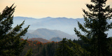 Clingmans Dome panorama, Smoky Mountains National Park, Tennessee, USA Papier Photo par Anna Miller