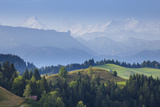 Emmental Valley and Swiss Alps in the Background, Berner Oberland, Switzerland Photographic Print by Jon Arnold