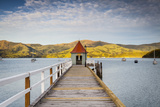 Historic Wharf, Akaroa, Banks Peninsular, South Island, New Zealand Photographic Print by Doug Pearson